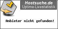Hostsuche.de Uptime-Livestatistik